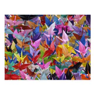 Cartão de papel de 1.000 guindastes de Origami