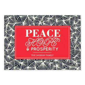 Cartão de papel do feriado da paz, da esperança &