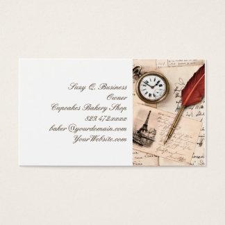 Cartão de papel velho do selo da escrita do