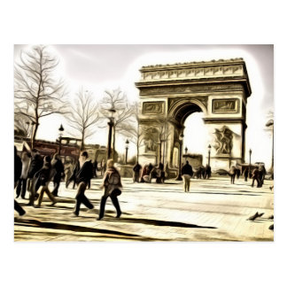 Cartão de Paris - arco de Triumph