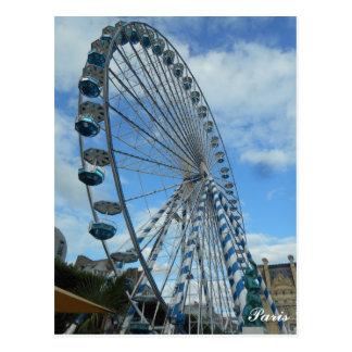 Cartão de Paris da roda de Ferris