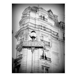 Cartão de Paris do estilo do vintage, sinal do