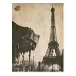 Cartão de Paris do vintage, torre Eiffel Cartao Postal