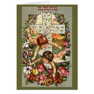 Cartão de páscoa angélico das vozes