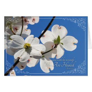 Cartão de páscoa bonito com Dogwoods