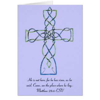 Cartão de páscoa celta da cruz do nó