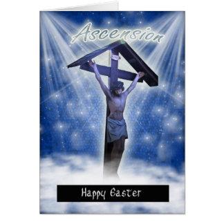 Cartão de páscoa com ascensão religiosa de Jesus n