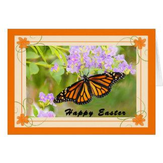 Cartão de páscoa com borboleta de monarca