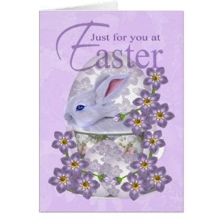 Cartão de páscoa com coelho do bebê - apenas para