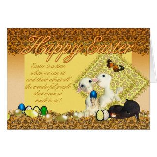Cartão de páscoa - com cordeiros do primavera