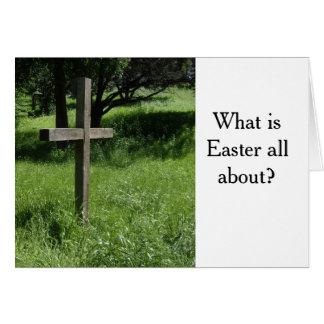 Cartão de páscoa com mensagem do evangelho
