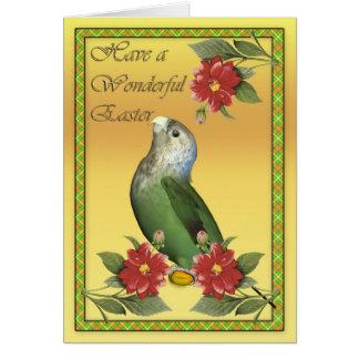 Cartão de páscoa com papagaio do cabo