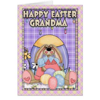 Cartão de páscoa da avó - coelhinho da Páscoa & ov
