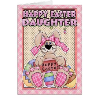Cartão de páscoa da filha - coelhinho da Páscoa &