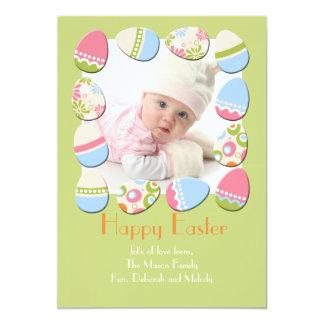 Cartão de páscoa da foto de Eggstravaganza Convite 12.7 X 17.78cm