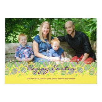 Cartão de páscoa da foto de Eggstravaganza da Convite 12.7 X 17.78cm