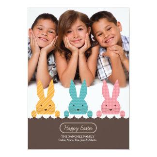 Cartão de páscoa da foto dos irmãos do coelho convite 12.7 x 17.78cm