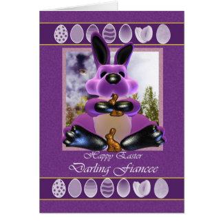Cartão de páscoa da noiva, com coelhinho da Páscoa