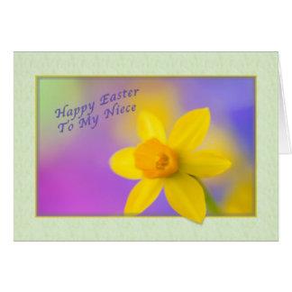 Cartão de páscoa da sobrinha com Daffodil