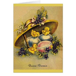 Cartão de páscoa de Buona Pasqua do italiano do