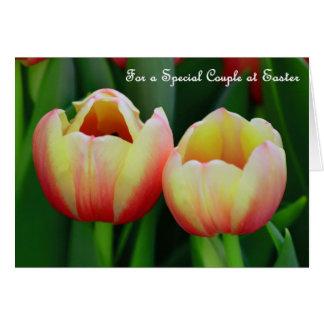 Cartão de páscoa de florescência da arte da flor
