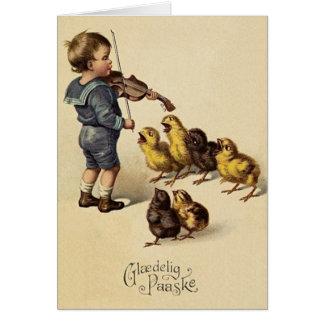 Cartão de páscoa de Glaedelig Paaske do