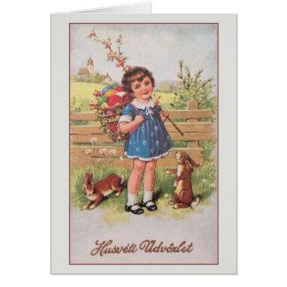 Cartão de páscoa de Húsvéti Üdvözlet do Hungarian Cartão Comemorativo