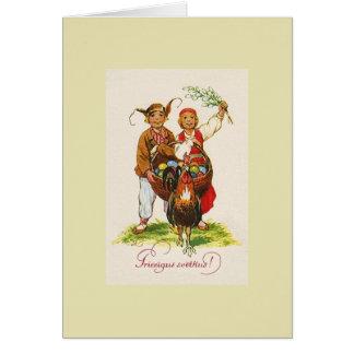 Cartão de páscoa de Priecīgus Svētkus do Latvian