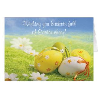 Cartão de páscoa - desejando lhe a páscoa do