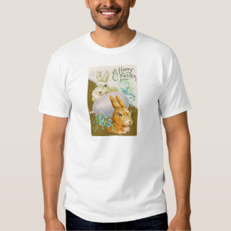 Cartão de páscoa do coelho do ovo da páscoa do tshirts