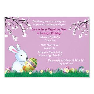 Cartão de páscoa do coelho do primavera convite 12.7 x 17.78cm