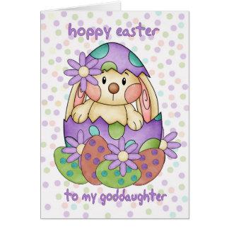 Cartão de páscoa do Goddaughter com coelhinho da
