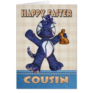 Cartão de páscoa do primo - chocolate do dragão da