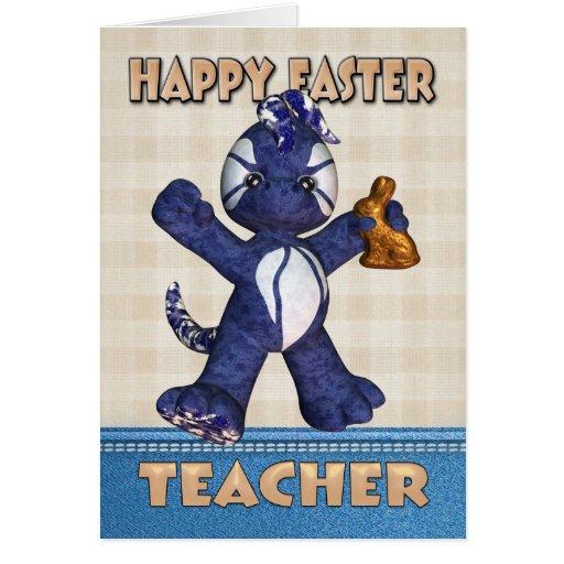 Cartão de páscoa do professor - chocolate do dragã