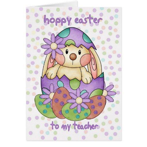 Cartão de páscoa do professor com coelhinho da Pás