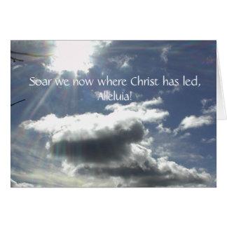 Cartão de páscoa dos hinos de séries da fé