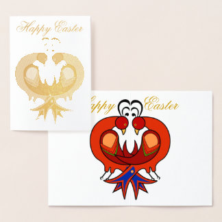 Cartão de páscoa dos pássaros do amor da arte do