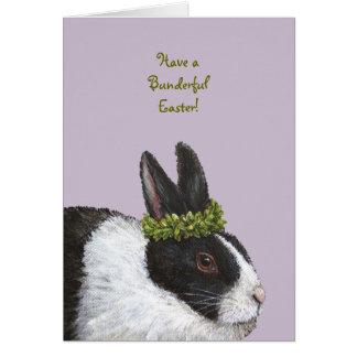 Cartão de páscoa engraçado do coelho
