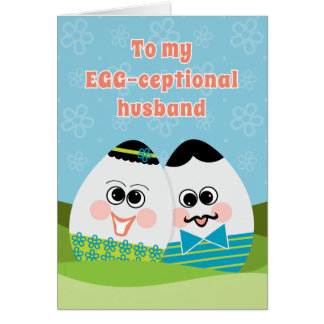 Cartão de páscoa engraçado para ovos parvos do