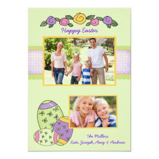 Cartão de páscoa esplêndido da foto dos ovos da convites personalizados