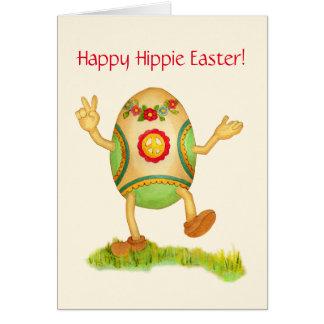 Cartão de páscoa feliz do Hippie