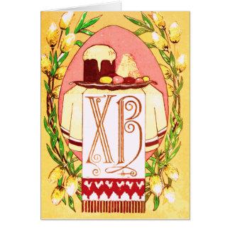 Cartão de páscoa ortodoxo (eslavo) do russo do