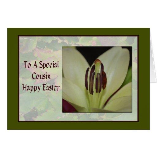 Cartão de páscoa para o primo especial