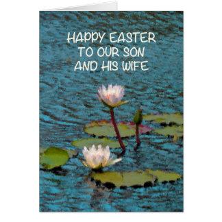 Cartão de páscoa para Sun e seus lírios de água da