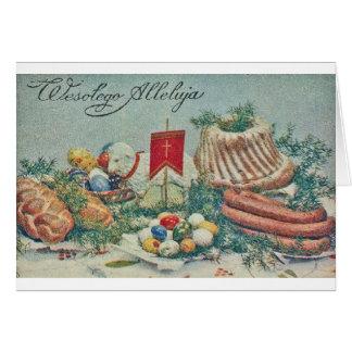 Cartão de páscoa polonês do vintage