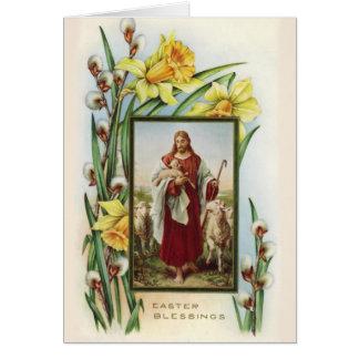 Cartão de páscoa religioso
