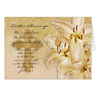 Cartão de páscoa religioso - aumentou - Lilie de c