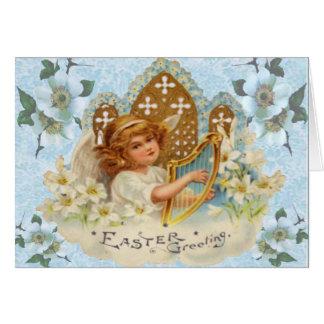 Cartão de páscoa religioso do anjo