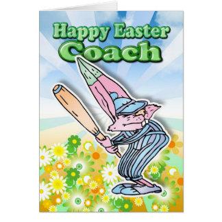 Cartão de páscoa - treinador de basebol do