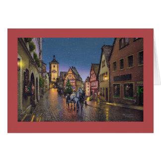 """Cartão de Paul McGehee """"Natal em Rothenburg"""""""